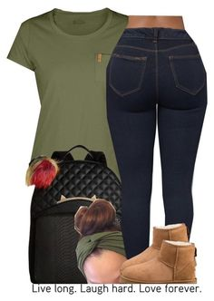 I have this entire outfit except those uggs Teen Fashion Outfits, Outfits For Teens, Chill Outfits, Casual Outfits, Polyvore Outfits, Fall Winter Outfits, Summer Outfits, Jugend Mode Outfits, Teenager Outfits