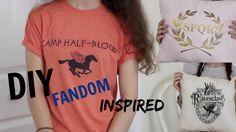 DIY FANDOM INSPIRED ROOM DECOR & CLOTHES || Percy Jackson & Harry Potter