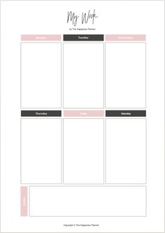 Ideas school organization printables free planner pages To Do Planner, Budget Planner, Life Planner, Happy Planner, College Planner, School Planner, College Tips, Weekly Planner Template, Daily Planner Printable