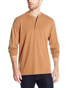 Weatherproof Vintage Men's Heathered Henley Shirt