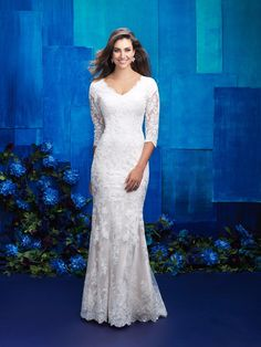 >> Click to Buy << Vintage Lace Boho Wedding Dresses 2017 Modest Mermaid 3/4 Sleeves V Neck Buttons Back Champagne Country Western Wedding Gowns #Affiliate