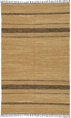 This hand-woven casual area rug features genuine all-natural leather construction that is environmentally conscious and incredibly stylish. Accent any room beautifully with this product handmade by talented artisans in Northern India.