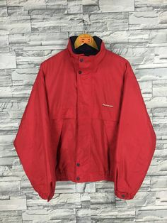 d972b7da71f4 Vintage 90s POLO BI-WAY Jacket Men Large Polo 1990s Sportswear Polo Sport  Windbreaker Polo Sportswear Harrington Red Hoodie Jacket Size L