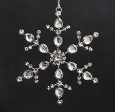"""Restoration Hardware: Victorian Glass Snowflake in """"Starburst"""" / """"Hand-inset with faceted rhinestones and glass beads, our delicate snowflakes shimmer with light as they hang on the tree, just like the Victorian-era ornaments that inspired them."""""""
