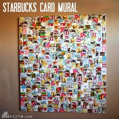 Giant DIY Starbucks Card Mural - illistyle.com