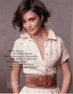 Katie Holmes. see what I mean, WAY better with short hair