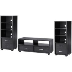 Carson 3 Piece Entertainment Center For TVs Up To 50