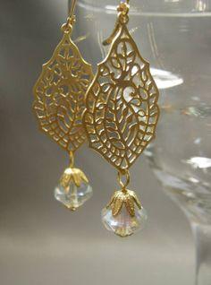 Great Gatsby Jewelry Long Dangle Earrings Art by BohemeBijou