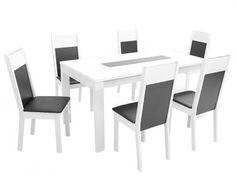 Conjunto de Mesa com 6 Cadeiras Estofaodas Madesa - Damasco com as melhores condições você encontra no Magazine 233435antonio. Confira!