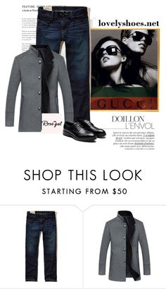 """""""Rosegal   28"""" by dzenanlevic99 ❤ liked on Polyvore featuring Gucci, Hollister Co., men's fashion and menswear"""