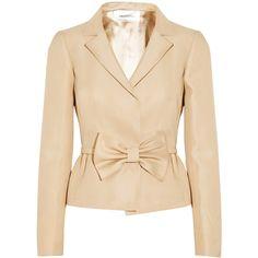 Valentino Silk-twill jacket ($880) ❤ liked on Polyvore