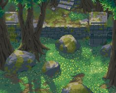 Magical by . Spring Forest, Pixel Art Games, Cg Art, 3d Artist, Art Tutorials, Art Inspo, Game Art, 3 D, Concept Art