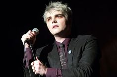Gerard Way performs live during a concert at the Heimathafen Neukoelln on January 27, 2015