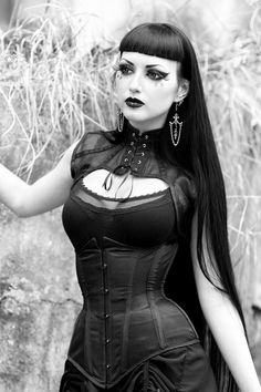 Gothic and Amazing  Model, MUA: Obsidian Kerttu Outfit: Villena Viscaria Clothing Earrings: The Crypt of Curiosities Photo: John Wolfrik  Welcome to Gothic and Amazing |www.gothicandamazing.org