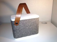 Small Portable Speaker Covered With Wool by Helseth