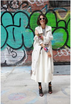 Stylish and chic! The gorgeous Leandra Medine @Man Repeller wearing summer mini scarves by Anna Coroneo, available @NET-A-PORTER.COM 
