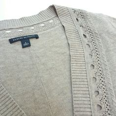 Banana Republic Cardigan- NWOT NWOT Banana Republic Cardigan- cotton/modal/Silk blend. Nice light weight with delicate pointelle details Banana Republic Sweaters Cardigans