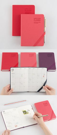 Super portable & super classy, the 2017 Small Ardium Planner is the perfect scheduler when you're on the go!