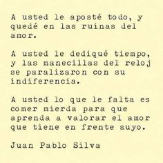 A usted...