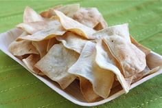 homemade baked tortilla chips.