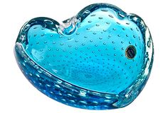 Blue Murano Bubble Glass Ashtray on OneKingsLane.com