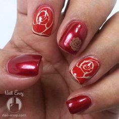 Rose Nail Art - Nail Envy