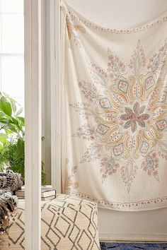 Plum & Bow Folky Fine Lines Tapestry $39.00