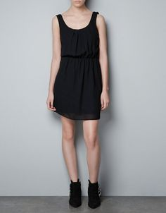 DRESS WITH CHAIN AT THE BACK - Dresses - TRF - ZARA Philippines