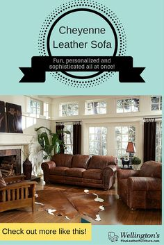 Learn more now: http://fineleatherfurniture.com/leather-furniture/sofas/cheyenne-leather-sofa-detail
