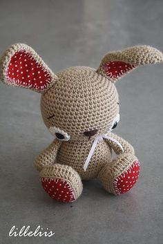 Items similar to Amigurumi bunny Tittle on Etsy Crochet Amigurumi, Crochet Bunny, Love Crochet, Amigurumi Patterns, Crochet For Kids, Crochet Animals, Diy Crochet, Crochet Crafts, Crochet Dolls