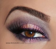 Lavender Bubble Gum. Pink and Purple Eyeshadow.