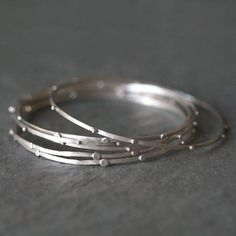 Stack Bangle in Sterling Silver by MichelleChangJewelry on Etsy 023be5a8988b7
