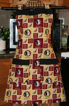 Seminoles Florida State Full Bib Apron Ready to by SpicyAprons, $29.99