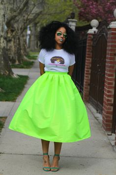 Wide Voluminous Midi Skirt Envy Ready to ship by tribalgroove