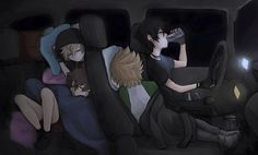 """Car Trip pt 4, """"vanitas seriously those are bad for your health stahp"""""""