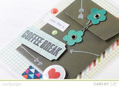 Coffee Break! by sideoats at Studio Calico ** customize/personalize for gift card--cute!**