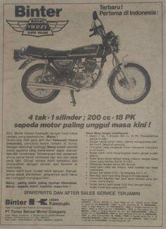 Kawasaki Binter Merzy KZ 200 Moto Car, Old Commercials, Kustom Kulture, Print Ads, Vintage Ads, Concept Cars, Cars And Motorcycles, Motorbikes, Japan