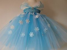 New FROZEN Elsa princess turquoise white tulle tutu dress w/ bling & snowflakes. Love the cap sleeves
