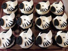 Zebra cupcakes for safari theme party