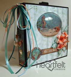 Today I want to share with you my Heartfelt Creations Under the Sea Mini Album. Using bla. Graphic 45, Mini Albums, Round Robin, Heartfelt Creations Cards, Album Book, Mini Scrapbook Albums, Shabby, Mini Books, Altered Art