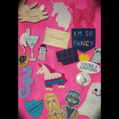 I finally made something with one of my @luckydipclub boxes! I decorated the box to hold some of my fave brooches and pins. All the others are on numerous jackets  #luckydipclub #ponypeople #imsofancy #hannah #personalised #brooch #pins #badges #bunny #unicorn #poodle #cat #cocktail #seahorse #biscuit #chocolate #betenoirejewellery #youreadiamond #royaltenenbaums #ghost #pug #dog #rainingcatsanddogs #amazeballs #cute #kitsch #ilovecrafty #make #standout #nevergrowup by hanskipolanski