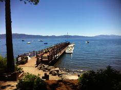 Gar Woods Grill and Pier, Lake Tahoe. Our favorite restaurant at Lake Tahoe! Summer paradise = crab cake sliders, a glass of Sauvignon Blanc, and this view!
