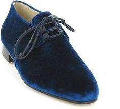 ShopStyle: Bettye Muller Blue Print Velvet Shoe