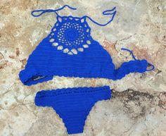 Crochet bikini blu royal