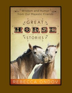 Saddle up and ride with my through the pages of my latest book--Great Horse Stories--for an adventure of a lifetime.