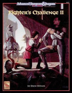 HHQ5 Fighter's Challenge II (2e) | Book cover and interior art for Advanced Dungeons and Dragons 2.0 - Advanced Dungeons & Dragons, D&D, DND, AD&D, ADND, 2nd Edition, 2nd Ed., 2.0, 2E, OSRIC, OSR, d20, fantasy, Roleplaying Game, Role Playing Game, RPG, Wizards of the Coast, WotC, TSR Inc. | Create your own roleplaying game books w/ RPG Bard: www.rpgbard.com | Not Trusty Sword art: click artwork for source