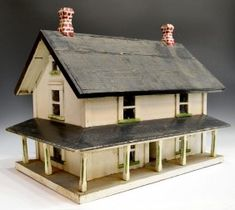 Folk art house model - House and home design