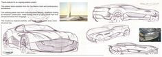 Aston Martin coupe sketches by me (Rollo Dixon) from my portfolio on Coroflot.com