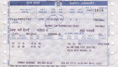 Indian Railway Train Ticket Hindi @ Leiden University Hindi @ Universiteit Leiden