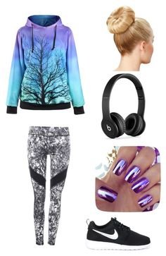 """Gym"" by spongebobty on Polyvore featuring NIKE and Beats by Dr. Dre"